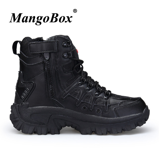 2018 Luxury Brand Combat Mens Boots Non-Slip Working Shoes For Men Comfortable Military Tactical Footwear Beige Black Army Boots 1