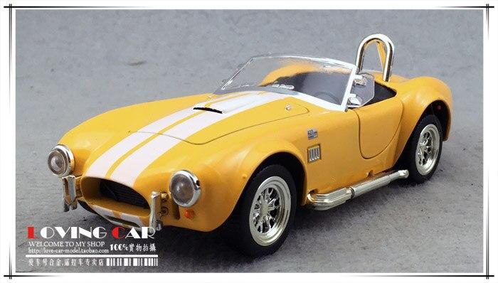Double Chevaux 1:32 ford Shelby cobra 427 classique voiture de sport de voiture lumière retour à ouvert la porte de alliage modèle de voiture kit enfants jouet