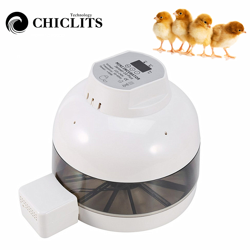 Mini Egg Incubator Automatically Turn Eggs For Chicken Duck Birds EU Plug 10 Eggs Automatic Incubator Chicken Hatching 220 240V