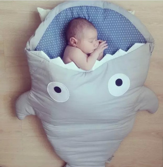 Promotion Carton Shark Baby Sleep Bag Winer Baby Sleep