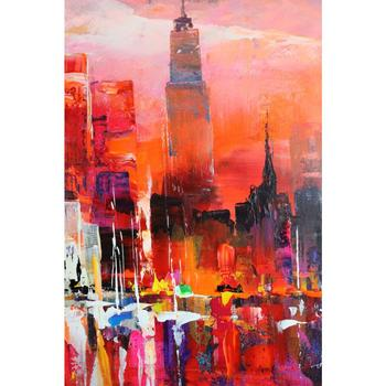 contemporary art abstract paintings City view Willem Haenraets oil on Canvas hand painted High quality Wall pictures