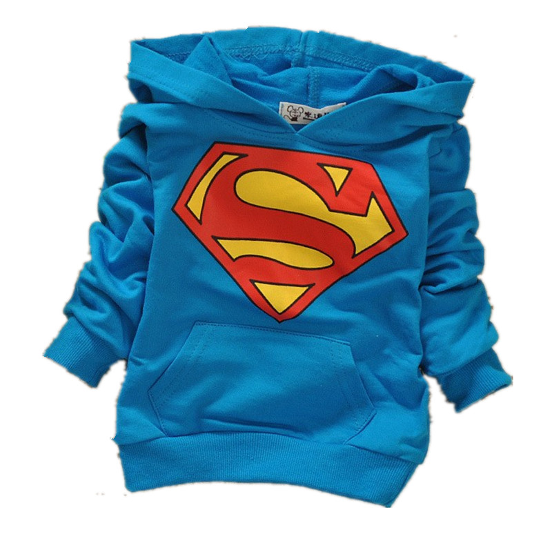 2015 Spring and Autumn baby boys and girls long-sleeved hoodie sweater Korean fashion Superman t-shirt