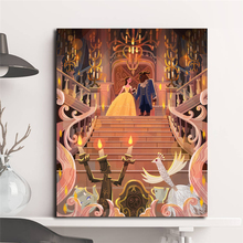 Beauty And The Beast Movie Illustrations Wall Art Canvas Posters Prints Painting Wall Pictures For Office Bedroom Home Decor HD beauty beast movie wallpaper wall art canvas posters prints oil painting wall pictures for bedroom modern home decor accessories