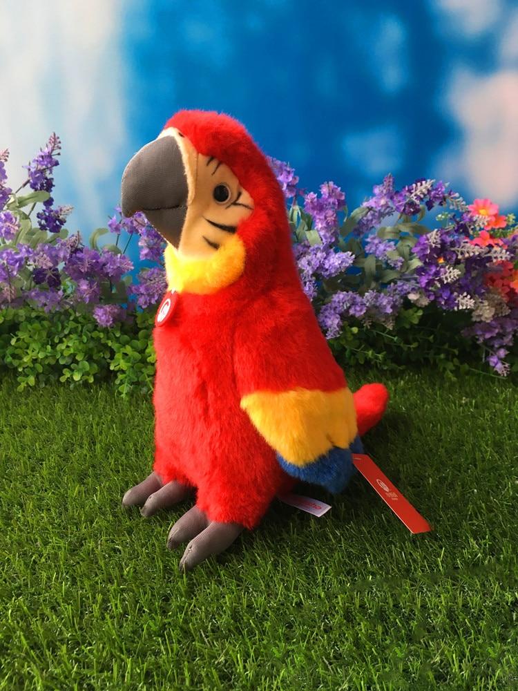 """10 """"szimulációs ara Scarlet töltött állati játékok Aranyos Macaws plüss játékok Parrot plüss babák ajándékok gyerekeknek"""