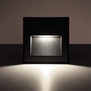 Image 3 - 2 قطعة/الوحدة داخلي/في الهواء الطلق Led خطوة درج أضواء مصابيح الحائط مقاوم للماء 3 واط Led الطابق ليلة الإضاءة مع 86 تصاعد صندوق
