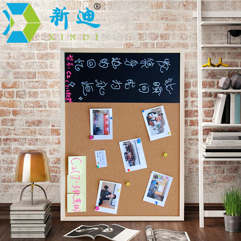 New 30*40cm Bulletin Board Blackboard Cork Board Combination 1:3 Wooden Frame Message Board Home Photos Write Notes Chalkboard 5