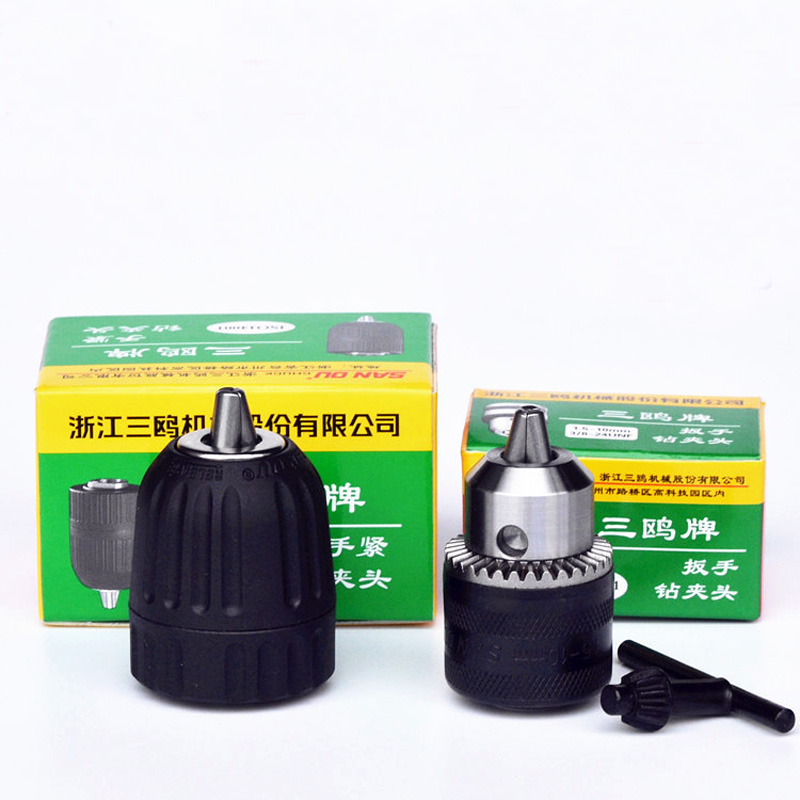Professional keyless drill chuck Impact with 0.8 1.5mm-10mm with 3/8-24UNF B12 Drill chuck free shipping new rotary b12 hammer drill chuck tool cap 1 5 10mm 3 8 mount 3 8 24unf converion sds shank adapter