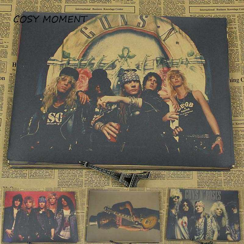 ACCOGLIENTE MOMENTO IN CUI I Guns N 'Roses/GnR Banda Manifesto Retro Rockers Kraft Carta Muro di Pittura Decorativa Poster Wall sticker QT181