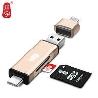 Kawau 3 1 OTG Card Reader TypeC USB MicroUSB Adapter With Micro SD Card SD Card