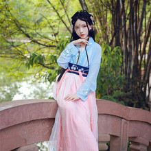 New style  Han Chinese female costume Hanfu tradition Nuns Skirt Embroidery Daily princess skirt