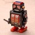 El más nuevo Diseño Clásico Juguetes de Hojalata Clockwork Robot Tin Toy Boy Robot Juguetes Colecciones