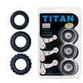 TITAN 3in1 36 39 42mm Delay Ejaculation Lock Ring Medical Silicone Penis Ring Testicular Ring Cockring Extender for Men B2-2-17