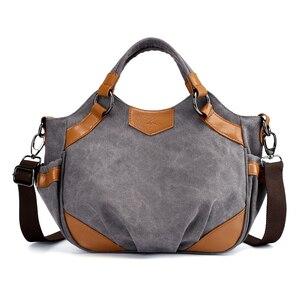 Image 2 - 2020 Nieuwe Canvas Schoudertassen Vrouwen Casual Messenger Bags Hoge Kwaliteit Dames Totes Handtassen Vrouwelijke Crossbody Tas Bolsas