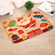 Merry Christmas Door Mat Santa Claus Flannel Outdoor Carpet Christmas Decorations For Home Xmas Party Christmas mat