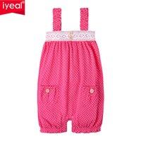 IYEAL Peuter Meisjes Jumpsuit Shorts Zomer Playsuit Meisje Romper Katoen Meisje Jarretel Sunsuits Outfit Kleding