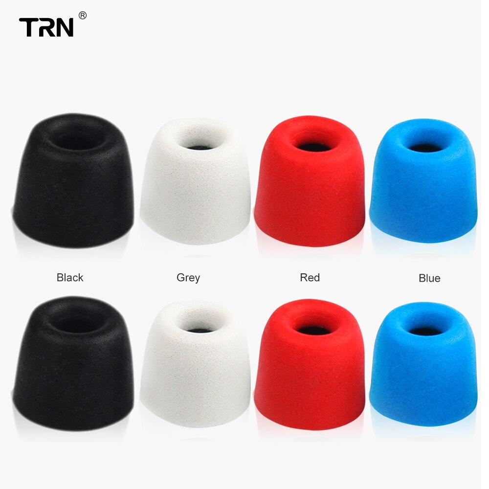 3 pares TRN (6 uds.) L M S en la memoria de los oídos, almohadillas de espuma, auriculares, manga de la oreja, punta de la oreja, auriculares para KZ auriculares TRN X6/V30/V80