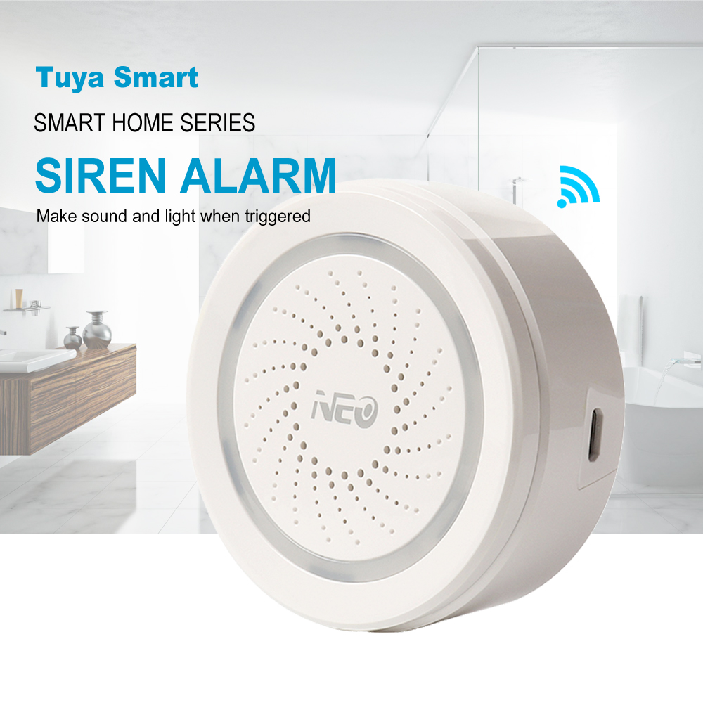 Tuya Smart Life Wireless WiFi Siren Alarm Sensor Sound And Light Alarm Siren Support IFTTT For Home Security