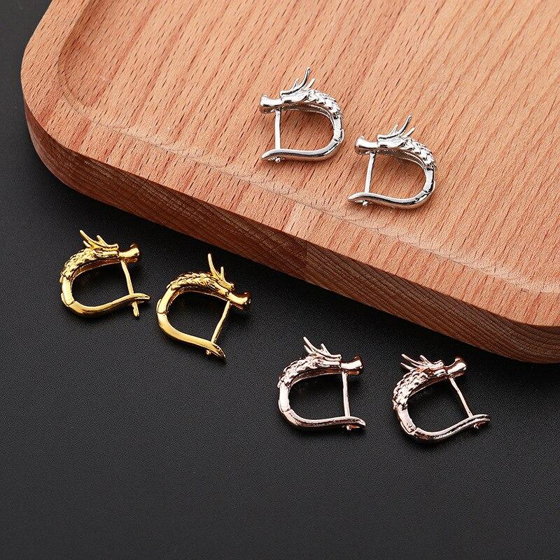 Punk dragon earrings (2)