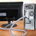 L1.5m D15mm PE Protetor de Cabo Do Computador Fones de ouvido Cabo Enrolador Dispositivo de Armazenamento de Fio de Cabo Clipe Gestão Organizador Cor Aleatoriamente