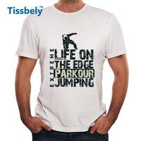 Tissbely Parkour Print T Shirt Parkour Concept Fashion Urban Graphic Tees Men Street Fashion Tops