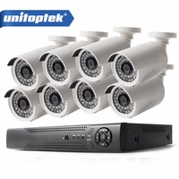 8Pcs 4 0MP HD IP Camera Outdoor Waterproof 8CH H 265 POE Security Camera NVR CCTV