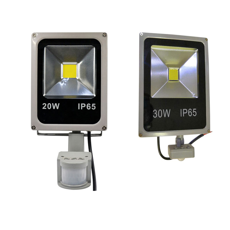Motion Sensor Led Flood Light 220V 50W 30W 10W Outdoor LED Spotlight Floodlight Wall Lamp Reflector  Waterproof cold white|Floodlights| |  - title=