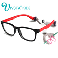 IVSTA with Strap 46-16 Kids Glasses for Children Eyeglasses Flexible TR90 Silicone Girls Optical Frames for Boys Soft OP8139