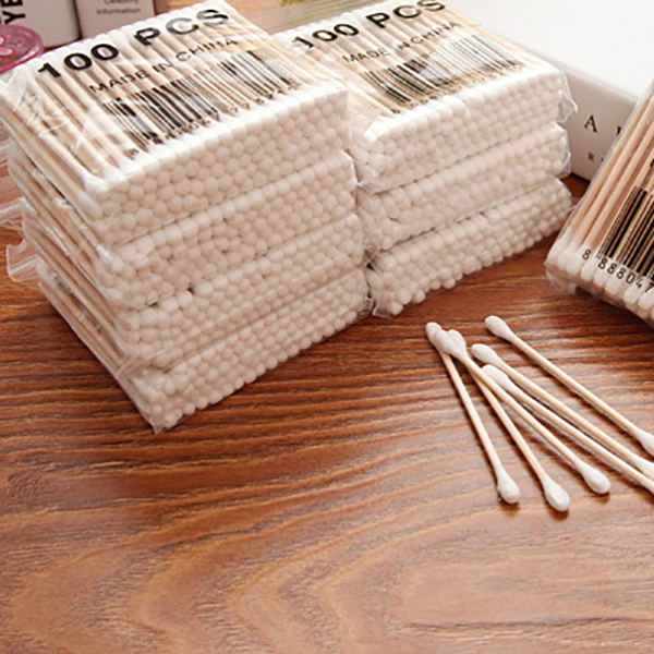800Pcs Pack Disposable Cotton Swabs Bamboo Cotton Buds Cotton Swabs Medical Ear Cleaning Wood Sticks Makeup Health Tools Tampo in Cotton Swabs from Beauty Health