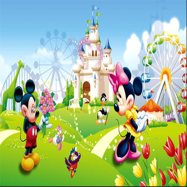 Murals Wallpaper Fairy Tale World Cartoon Movie Theme Kindergarten Boys And Girls Room Decor Large Wall