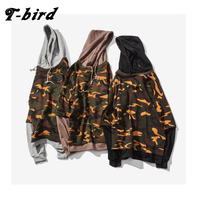 2017 New Fashion Hoodies Brand Men Camouflage Fake Two Pieces Sweatshirt Malemen S Sportswear Hoody Hip
