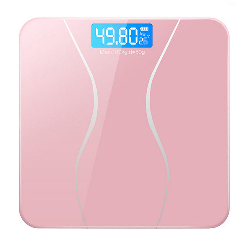 Weight Scale 180KG Electronic LCD Digital Bathroom Body With Battery Smart Home Futural Digital Drop Shipping AUGG19
