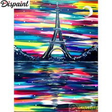 Dispaint Full Square/Round Drill 5D DIY Diamond Painting Oil painting tower 3D Embroidery Cross Stitch Home Decor Gift A12849