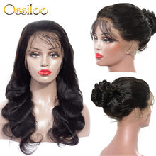 Ossilee – perruque Lace Front Wig 360 naturelle, cheveux Remy, Body Wave, pre-plucked, avec Baby Hair