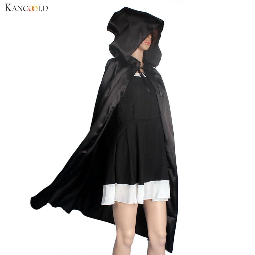 Прохолодний жінок унісекс мантії з капюшоном плащ Wicca халат  середньовічний мис шаль Хеллоуїн косплей парт. d0eb6f5e456c9