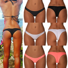 Brazilian Ruched Bikini Bottom Thong