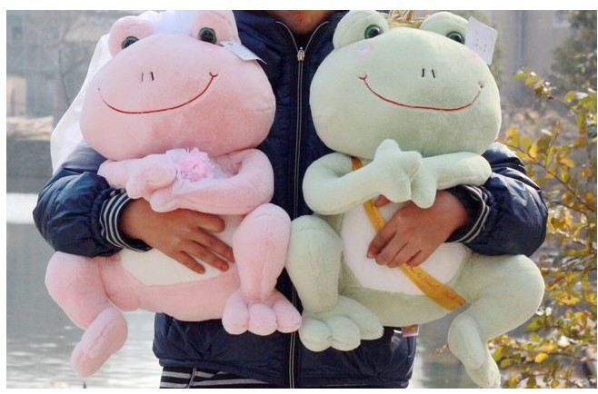 Freeshipping The frog prince couples wedding dresses plush doll plush toy  28cm 40cm 1pair/lot no author match of the day annual 2014