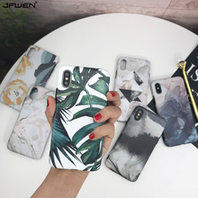 Silicone Case For iphone X XR XS Max Case For iphone 8 7 6 6S Plus X XS Max XR Case Luxury Leaf Flower Oil Painting Back Cover new iphone case for iphone 11 for iphone11 pro max 5 8 inches 6 1 inches 6 8 inches 6 6s 7 8 plus ix xr max x fashion back cover
