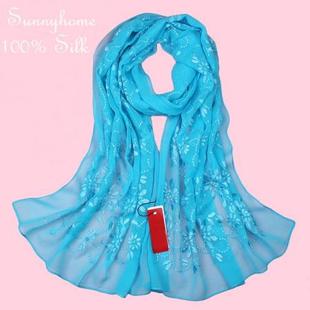 Шелковые Аксессуары для волос повязки для женщин шапочка под хиджаб шапки для мусульманский, арабский шарф для девочки новинка брендовые Дизайнерские шарфы - Цвет: blue small flower
