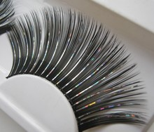 1 pairs Black color plus colorful line of wedding arts individual exaggerated false eyelashes for women makeup KZ054