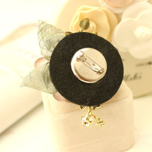 i-Remiel Camellia Brooch Korean Fabric Flower Pin Accessories Brooches Cardigan Coat Fashion Cute Jewelry Women Broches Ladies