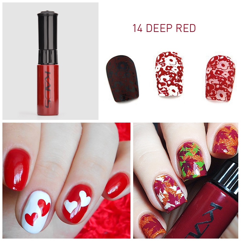 Image 2 - nail stamping polish for Nail stamp templates Varnish 10ml 1 Bottle/LOT Colorful Stamping Polish nail art pen 31 colors vernis-in Nail Polish from Beauty & Health
