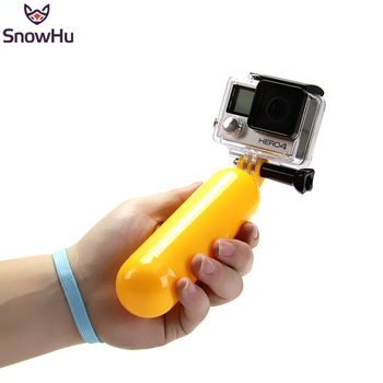 SnowHu for Gopro Bobber Floating Floaty Handheld Stick tripod accessories SJCAM
