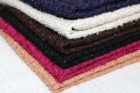 Free Ship Wool Tweed Fabric Warm Color Soft Feel Weaved Needled Fabrics 3 Colors For Choice