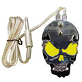 Solong Tattoo Professional Skull Stainless Steel Tattoo foot switch/pedal for Power Supply Yellow P219-3
