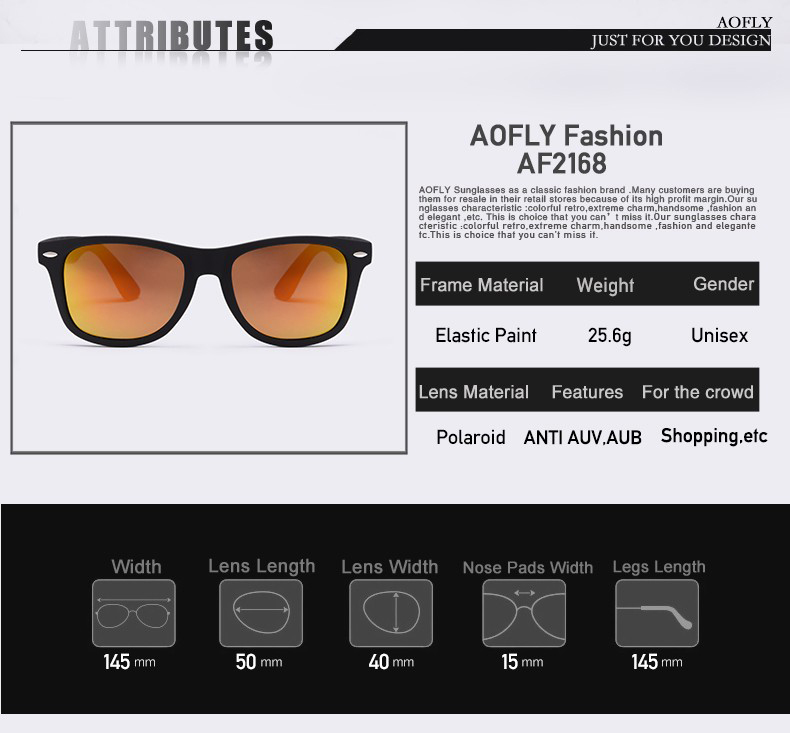HTB1R2U0RFXXXXcqXFXXq6xXFXXX1 - AOFLY Fashion Sunglasses Men Polarized Sunglasses Men Driving Mirrors Coating Points Black Frame Eyewear Male Sun Glasses UV400