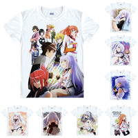 Coolprint Anime Shirt Plastic Memories T Shirts Multi Style Short Sleeve Puramemo Tsukasa Mizugak Isla Cosplay