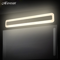 Modern LED Mirror Lights 400 600 800 Mm Wall Lamp Bathroom Bedroom Headboard Wall Sconce Lampe