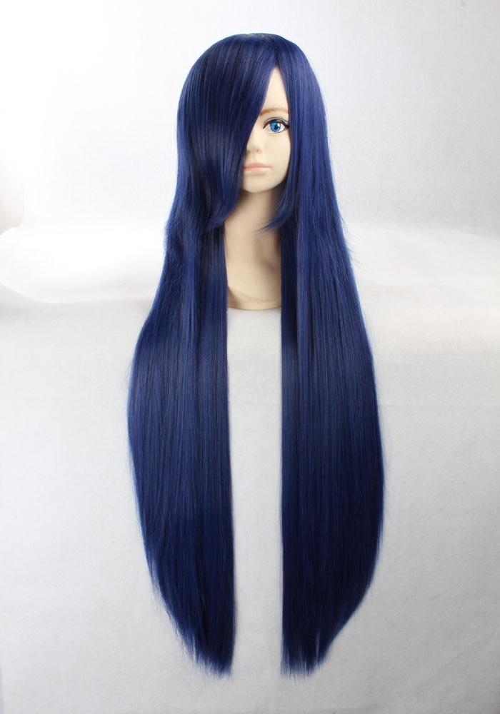 Exceptionnel Anime Naruto Shippuden Hinata Hyuga Cos perruque de cheveux bleu  DL28