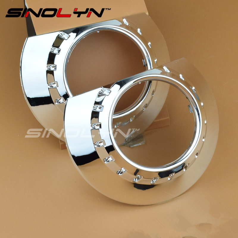 Sinolyn The E46 R Bezels Shrouds Masks Replacement for 2 5 3 0 Aftermarket Bixenon Projector