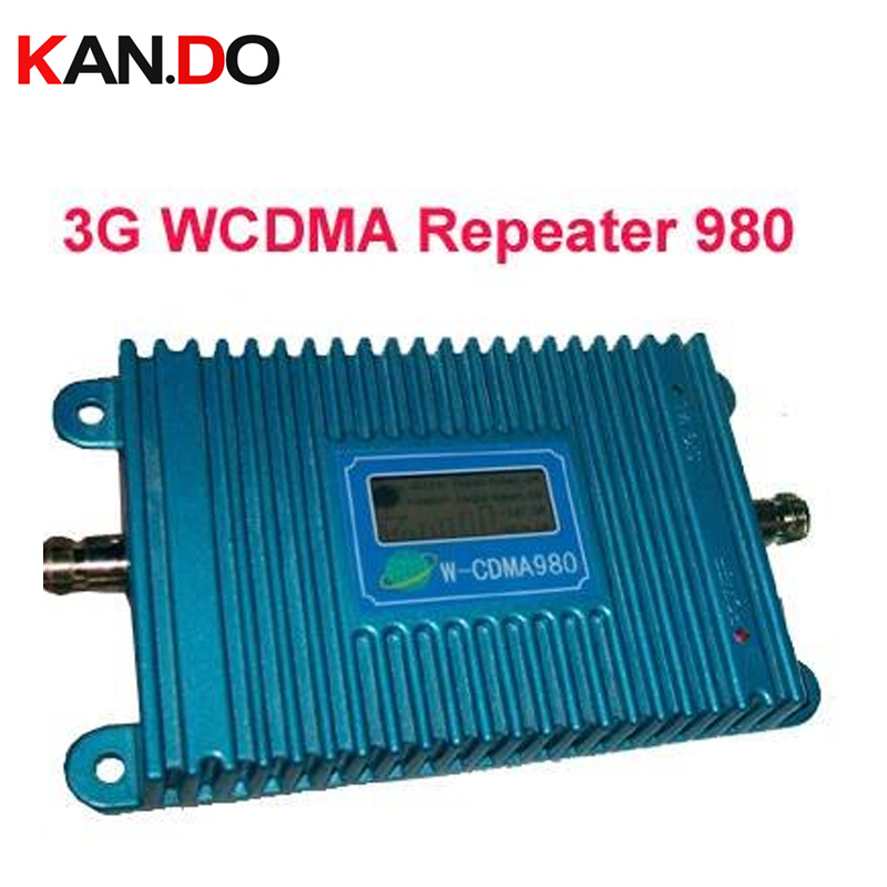 Modèle 980 3G booster LCD fonction d'affichage nouveau modèle WCDMA 98 2100 Mhz amplificateur de signal de téléphone portable, répéteur de signal GSM